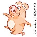 vector illustration of a cute... | Shutterstock .eps vector #1186635637