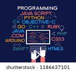 programming web banner. best... | Shutterstock .eps vector #1186637101
