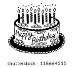 happy birthday cake   retro... | Shutterstock .eps vector #118664215