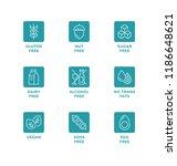 vector set of design elements ...   Shutterstock .eps vector #1186648621