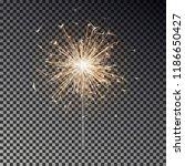 bengal fire. new year sparkler... | Shutterstock .eps vector #1186650427