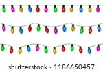 christmas lights string vector  ... | Shutterstock .eps vector #1186650457