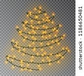 christmas color tree of lights... | Shutterstock .eps vector #1186650481