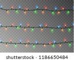 christmas lights string.... | Shutterstock .eps vector #1186650484