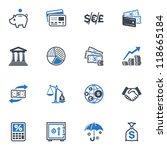 finance icons   blue series | Shutterstock .eps vector #118665184