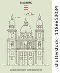 salzburg cathedral st. rupert... | Shutterstock .eps vector #1186653034