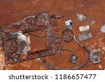 Small photo of Extreme Rusted Computer Computer Components Background