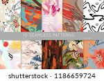 collection of seamless patterns.... | Shutterstock .eps vector #1186659724