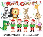 christmas concert with... | Shutterstock .eps vector #1186662334