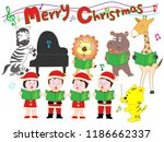 christmas concert with... | Shutterstock .eps vector #1186662337