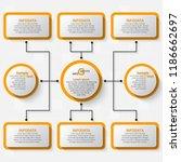 vector abstract 3d paper... | Shutterstock .eps vector #1186662697