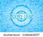 booby trap light blue emblem.... | Shutterstock .eps vector #1186663057