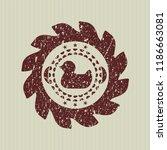 red rubber duck icon inside... | Shutterstock .eps vector #1186663081