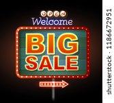 neon sign big sale open.... | Shutterstock .eps vector #1186672951