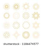 set of gold sunburst frames ... | Shutterstock .eps vector #1186674577