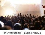 crowd at concert   cheering... | Shutterstock . vector #1186678021