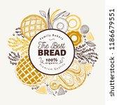 vector bakery hand drawn... | Shutterstock .eps vector #1186679551