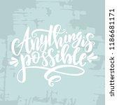 feminism hand drawn typography... | Shutterstock .eps vector #1186681171