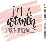 feminism hand drawn typography... | Shutterstock .eps vector #1186681174