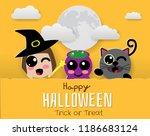 banner halloween . trick or... | Shutterstock .eps vector #1186683124