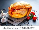 chicken with spices and... | Shutterstock . vector #1186685281