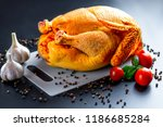 chicken with spices and... | Shutterstock . vector #1186685284