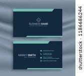 dark clean business card...   Shutterstock .eps vector #1186686244