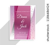 abstract geometric wedding card ... | Shutterstock .eps vector #1186686424