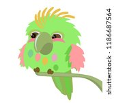 vector illustration with cute... | Shutterstock .eps vector #1186687564