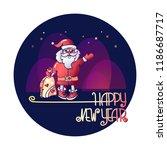 vector illustration of santa... | Shutterstock .eps vector #1186687717