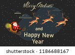 merry christmas and happy new... | Shutterstock .eps vector #1186688167