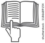 manual book vector symbol ... | Shutterstock .eps vector #1186689154
