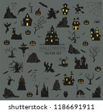 halloween holiday info graphic... | Shutterstock .eps vector #1186691911