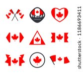 canada  canadian flag and red... | Shutterstock .eps vector #1186693411