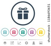 gift box flat color icons in... | Shutterstock .eps vector #1186693651