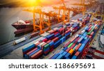 logistics and transportation of ... | Shutterstock . vector #1186695691