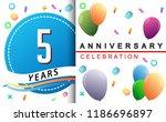 5th years anniversary... | Shutterstock .eps vector #1186696897