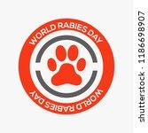 world rabies day.   Shutterstock .eps vector #1186698907