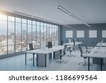contemporary coworking office... | Shutterstock . vector #1186699564