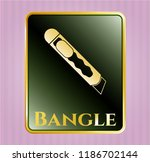 gold emblem with cutter icon...   Shutterstock .eps vector #1186702144