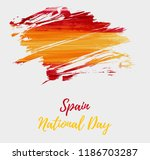 spain national day background.... | Shutterstock .eps vector #1186703287