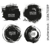 vector beautiful handmade black ... | Shutterstock .eps vector #118670389