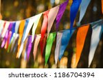 carnival garland with flags ... | Shutterstock . vector #1186704394