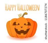 halloween pumpkin with happy... | Shutterstock .eps vector #1186707274