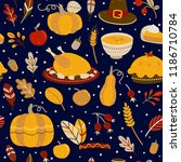 seamless pattern with... | Shutterstock .eps vector #1186710784