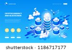 cryptocurrency and blockchain... | Shutterstock .eps vector #1186717177