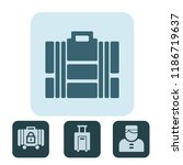 modern and trend luggage icons... | Shutterstock .eps vector #1186719637