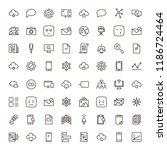 social network icon set.... | Shutterstock .eps vector #1186724464