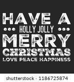 christmas vector quote. holly... | Shutterstock .eps vector #1186725874