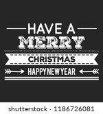 christmas vector quote. holly... | Shutterstock .eps vector #1186726081